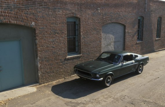 La Ford Mustang Fastback mise en vedette dans Bullitt. (Photo David Newhardt, Weick)