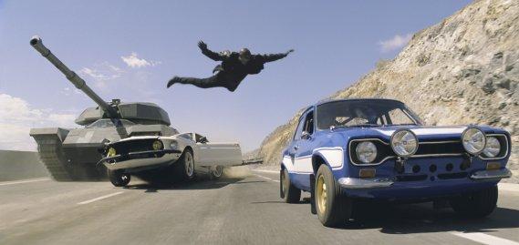 Ford Mustang et Ford Escort Cosworth qui sont en vedette dans le film Fast & Furious 6. (Photo fournie par Universal)