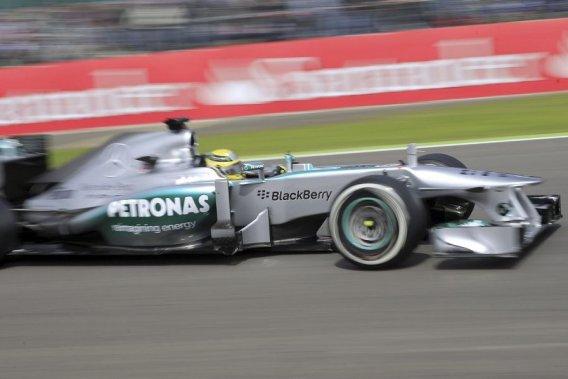 L'Allemand Nico Rosberg, pendant la troisième séance d'essai libre.