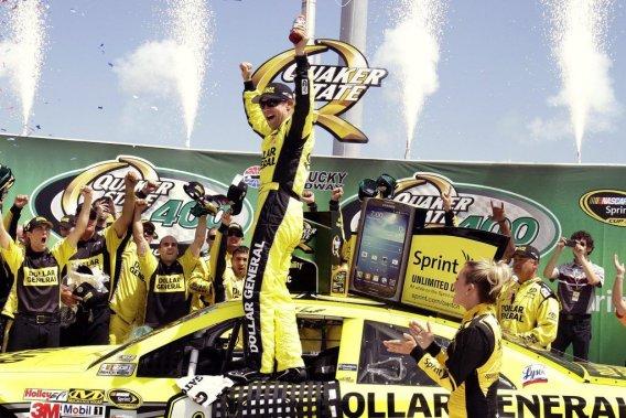 Kenseth a mené pendant 38 tours à deux reprises, dont les 23 derniers à bord de sa voiture Toyota no20.