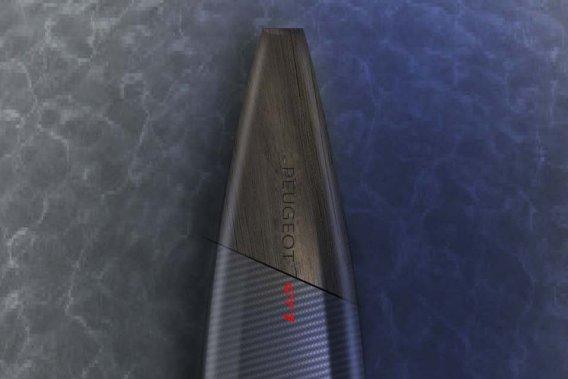 L'atelier de design de Peugeot a dessiné une série de planches de surf censées s'inspirer du plaisirde conduire des Peugeot sportives.
