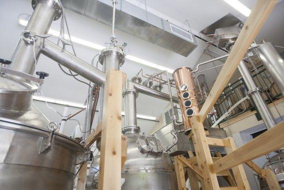 L'intérieur de la distillerie. (Photo Anne Gauthier, La Presse)