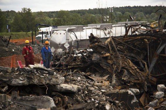 Dévastation dans l'ex-zone rouge. (Photo Ninon Pednault, La Presse)