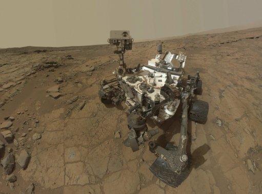 Curiosity par lui-même... (Photo fournie par la NASA)