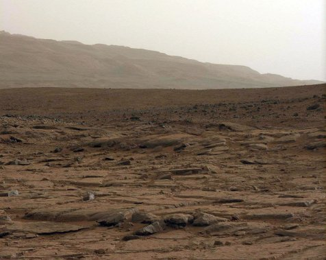 Image générale du paysage martien. (Photo fournie par la NASA)