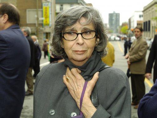 Hélène Loiselle lors des funérailles de Serge Turgeon en mai 2004. (Photo: Robert Mailloux, archives La Presse)