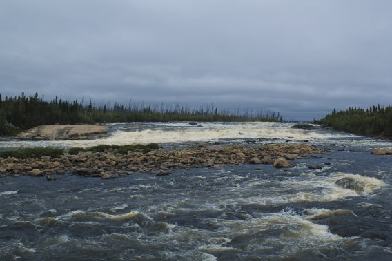 Même si le débit de la rivière Rupert est impressionnant, l'impact du projet d'Hydro-Québec l'a considérablement réduit. (Photo Charles-Édouard Carrier, collaboration spéciale)