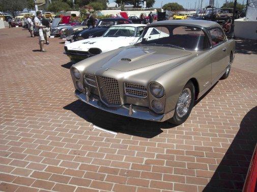 Après les Delage, Delhaye, Talbot, il y a eu les Facel Vega. Fondée en 1939, la société Facel (Forges et Ateliers de Construction d'Eure-et-Loir) incarnait en son temps le luxe à la française. Cette voiture était mue par un moteur V8 produit par Chrysler... (Photo fournie par le Concours d'Élégance de Pebble Beach)