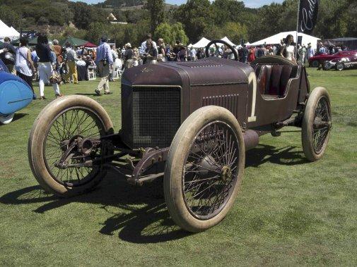 Plus authentique que ça, tu meurs. La peinture est défraîchie, mais originale, s'empressent d'ajouter les collectionneurs. La création de cette Hispano-Suiza remonte à 1911... (Photo fournie par le Concours d'Élégance de Pebble Beach)