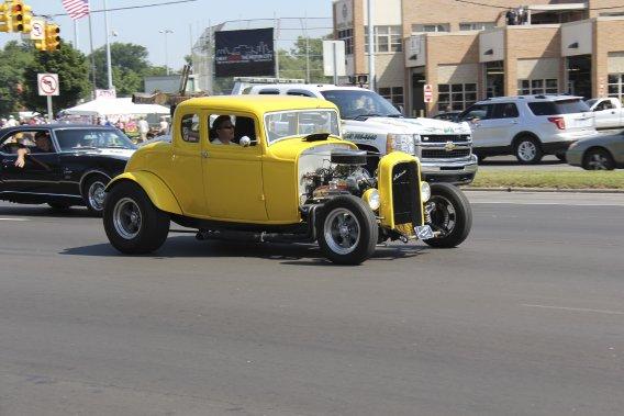 Ce coupé Ford 1932 semble tout droit sorti du film American Graffiti. (Photo Éric Descarries, collaboration spéciale)