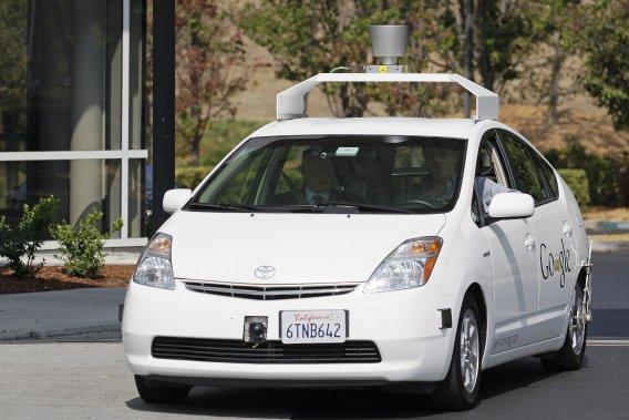 La voiture autopilotée de Google en essai.