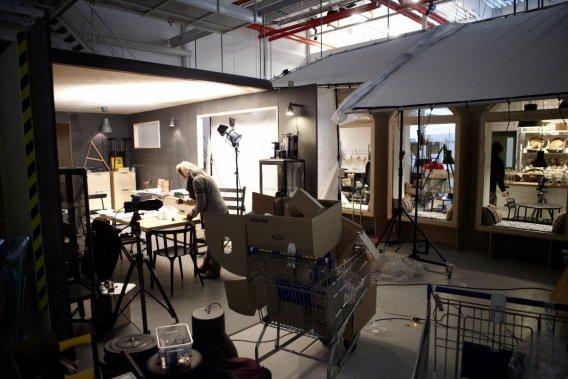 Passons derrière la caméra au studio d'IKEA Communications. (Photo fournie par Geneviève Labbé)
