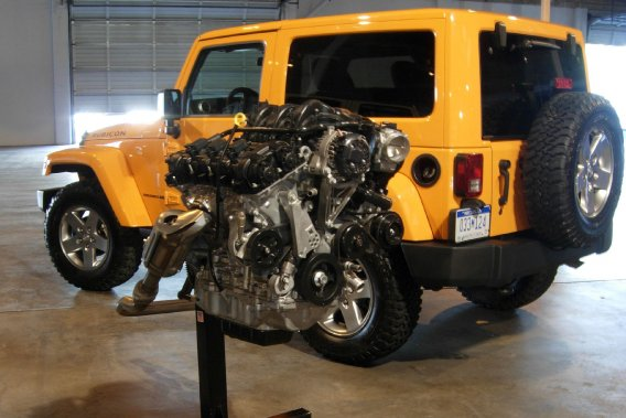 Le V6 Pentastar de 3,6 litres offert ici.