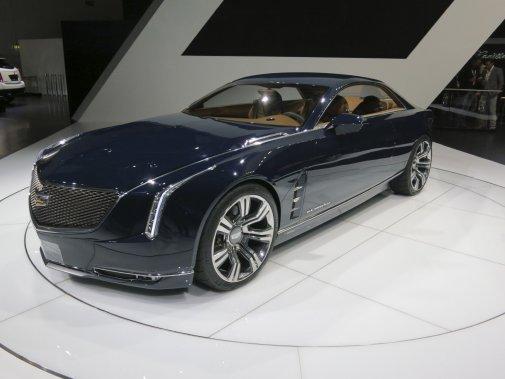 Le prototype Elmiraj que Cadillac avait déjà dévoilé au récent Concours d'Élégance de Pebble Beach en Californie a fait ses débuts européens (Photo Éric Descarries, collaboration spéciale)