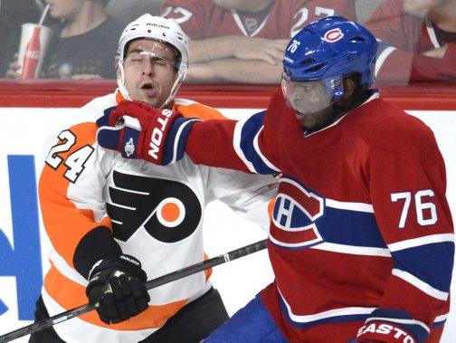 Flyers canadien le clavardage de mathias brunet hockey for Annonceur maison du canadien