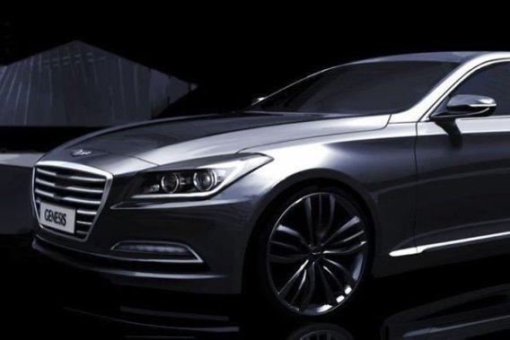 Avant-goût de la Hyundai Genesis berline 2015 qui sera présentée à Detroit en janvier prochain.