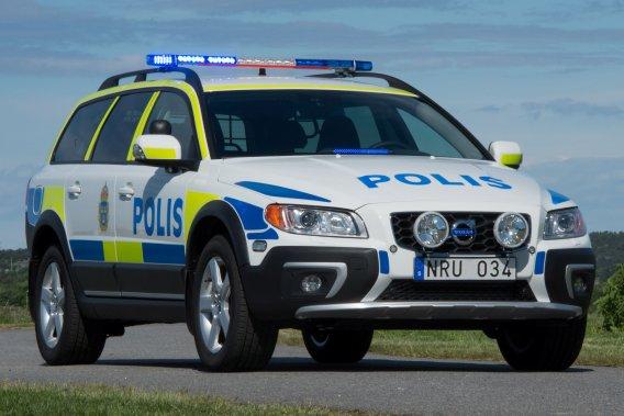 La nouvelle XC70 D5 policière à rouage intégral.