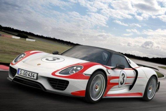 La Porsche 918 Spyder Weissach.