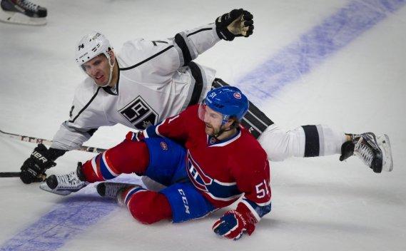 David Desharnais et Dwight King se retrouvent sur la glace. (André Pichette, La Presse)
