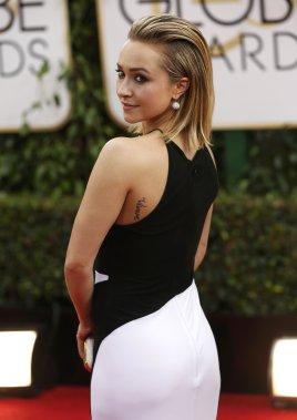 Hayden Panettiere, vedette de la série Nashville, porte une robe signée Tom Ford. (Photo MARIO ANZUONI, Reuters)