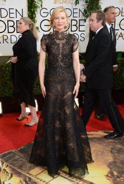 Cate Blanchett, nominée dans la catégorie «Meilleure actrice, film dramatique» pour son rôle dans Blue Jasmine. (Photo Jordan Strauss, AP)