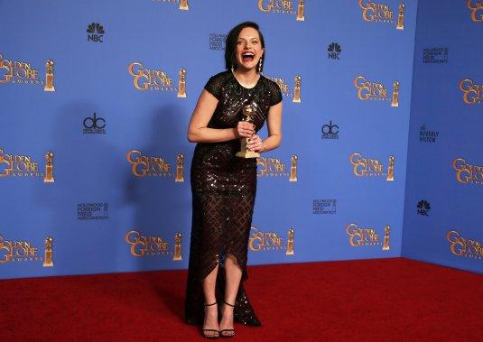 Elizabeth Moss a remporté le titre de meilleure actrice dans une mini-série ou film conçu pour la télévision, pour Top of the Lake. (Reuters)
