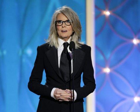 Diane Keaton a accepté le prix-hommage Cecil B. DeMille qui a été remis cette année à Woody Allen. (AP)
