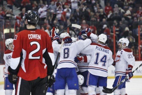 Victoire du Canadien 5à 4 en prolongation (Patrick Woodbury, LeDroit)