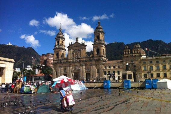 La place Bolivar règne au centre de la capitale. (VALÉRIE LESSARD, LeDroit)
