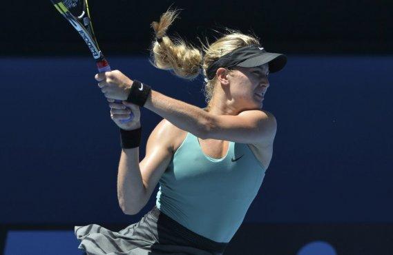 Eugenie Bouchard est devenue la première Québécoise à accéder aux demi-finales d'un tournoi de tennis du Grand Chelem. (Photo Paul Crock, AFP)