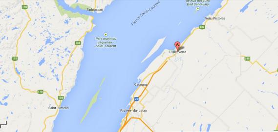 L'Isle-Verte est une municipalité située à environ 30 KM à l'est de Rivière-du-Loup. ()