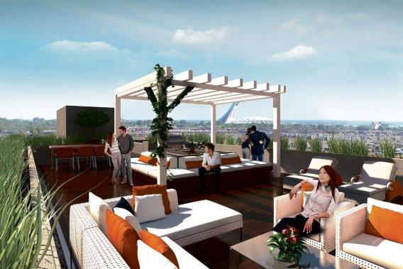 Les copropriétaires auront accès à une terrasse sur le toit. (ILLUSTRATION FOURNIE PAR Z COMMUNICATIONS)