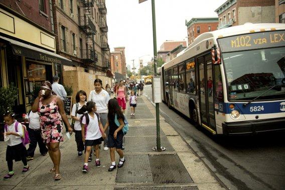 Ce quartier qui compte une majorité de résidants portoricains s'étend de la 96e à la 125e Rue à l'est de Central Park. (Photo David Boily, La Presse)