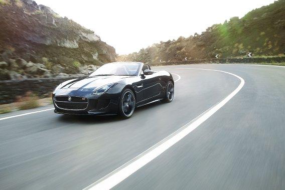 La Jaguar F-Type en livrée décapotable