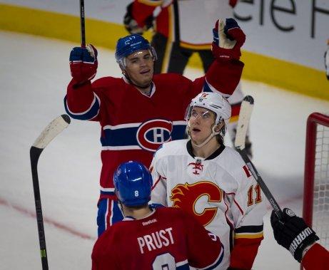 L'attaquant du Canadien semblait franchement soulagé après son but. (André Pichette, La Presse)