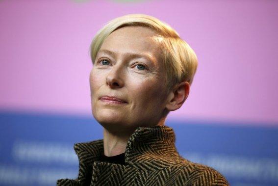 Jeudi 6 février : Tilda Swinton, vedette de The Grand Budapest Hotel. (Photo: Reuters)