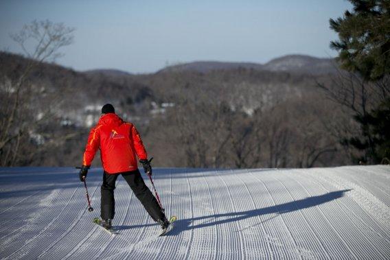 La station de ski Mont Avalanche est moins achalandée que ses voisines plus connues. (Photo David Boily, La Presse)