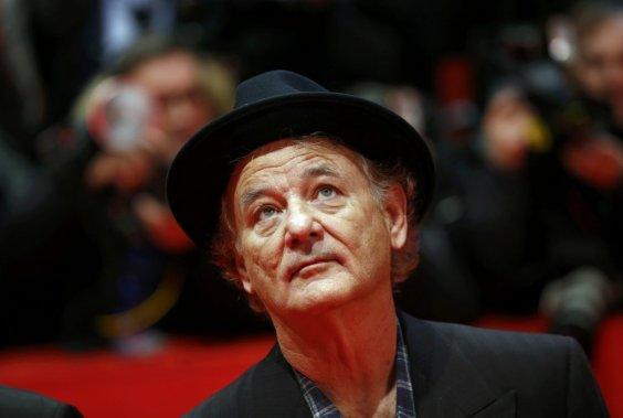 Samedi 8 février : L'acteur Bill Murray sur le tapis rouge de «Monuments Men». (PHOTO THOMAS PETER, REUTERS)