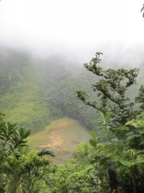 Le cratère du volcan Liamuiga. (Photo Marie-Eve Morasse, La Presse)