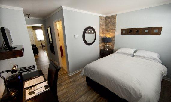Les lits douillets de Studiotel Bromont sont parfaits pour passer une bonne nuit. (Photo Alain Roberge, La Presse)