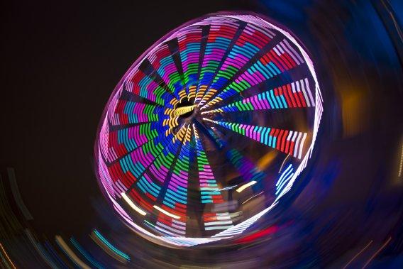 La grande roue tourne à vive allure. (Photo: André Pichette, La Presse)
