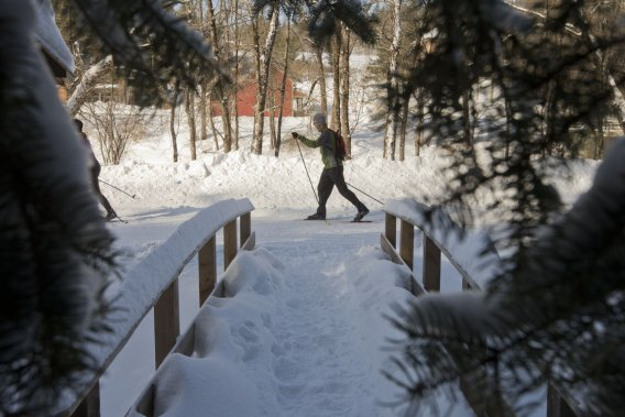 On peut faire du ski de fond dans le parc de la Gatineau. (Photo Ivanoh Demers, La Presse)