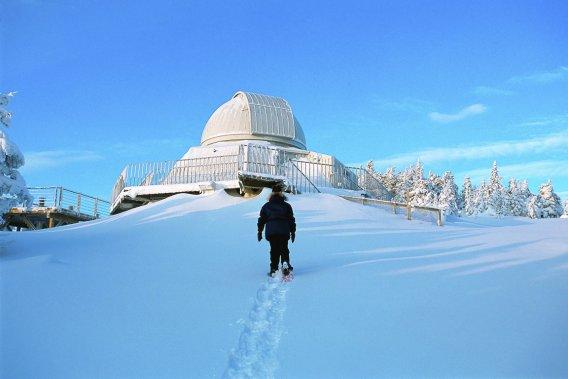 Dans les Cantons-de-l'Est, le parc national du Mont-Mégantic propose notamment plusieurs activités spéciales pour la relâche. (Photo Jean-Pierre Huard, fournie par la SÉPAQ)