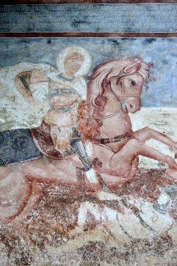 Détail d'une fresque au monastère de la Moraca. (Photo Violaine Ballivy, La Presse)