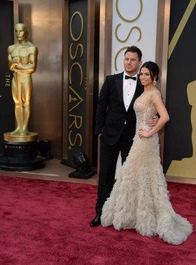 Channing Tatum et sa femme Jenna Dewan (Photo ROBYN BECK, AFP)