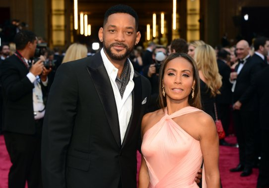 Will Smith et sa femme Jada Pinkett (Photo FREDERIC J. BROWN, AFP)