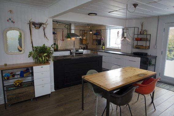 d co allier rustique et moderne julie champagne design. Black Bedroom Furniture Sets. Home Design Ideas