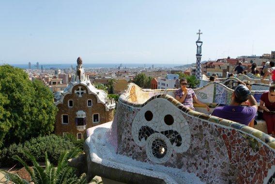 Le parc Güell, détour essentiel d'une première visite à Barcelone. (Photo Martin Chamberland, La Presse)