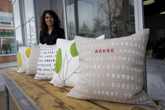 Marie-Hélène Langevin, de Motif Textile. (Photo André Pichette, La Presse)