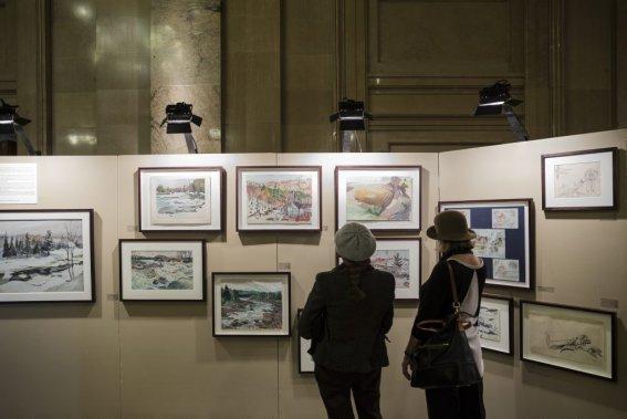 L'exposition «Hommage à Frédéric Back» est l'occasion de découvrir des gouaches et des dessins de paysages comme d'activités humaines aujourd'hui disparues. (Photo: Édouard Plante-Fréchette, La Presse)